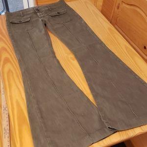 New Italian Dondup Flare Army Green Pants, 30